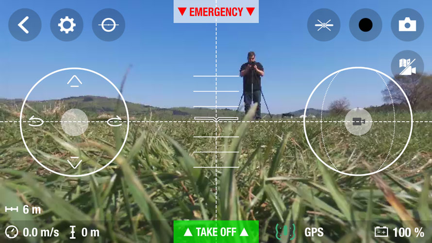 Bebopp Drohne am Anfang mit einem Schnappschuss