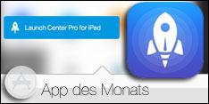 App des Monats Juni 2015 - Launch Center Pro für iPad