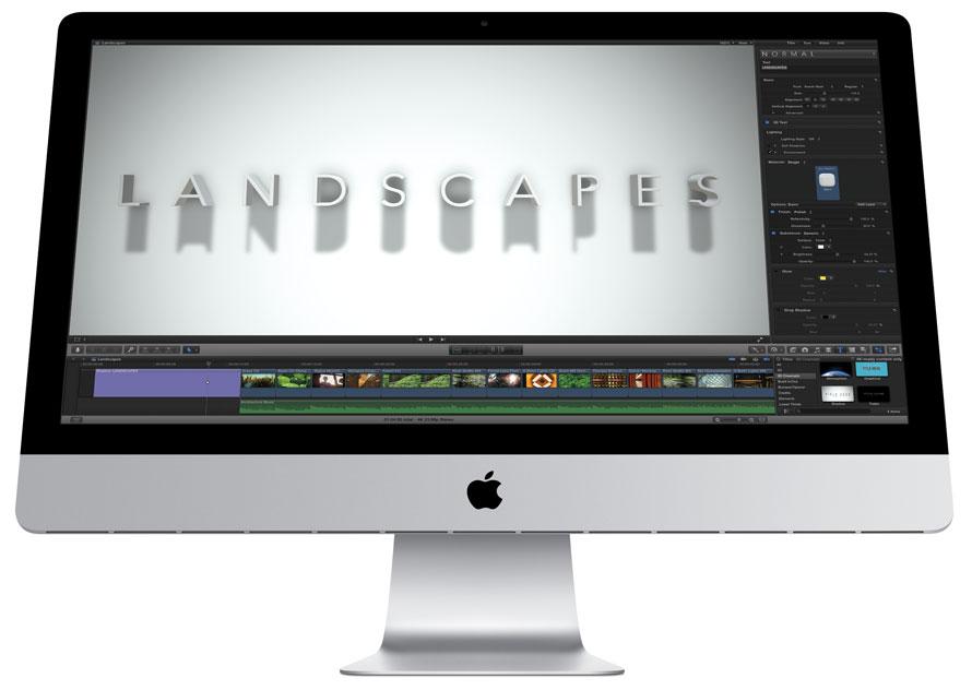 FCP X auf einem 27 Zoll iMac