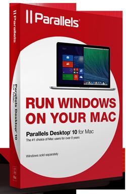 Box von Parallels Desktop 10 für Mac