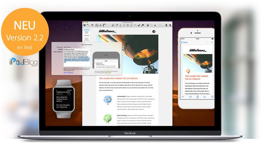 Jetzt deine Mails auch für die neue Apple Watch optimieren. Mit Mail Designer Pro 2.2 kannst du Newsletter gestalten, die überall im Flow bleiben: am Desktop und den neusten Smartphones und Smartwatches