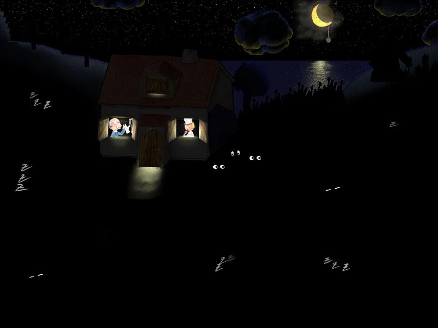 Wimmelapp Szene 4 BONUS - Nacht auf dem Bauernhof