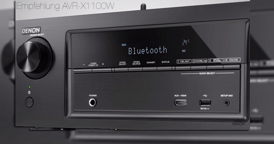 Jetzt den Denon AVR-X1100W 7.2 Surround-AV-Receiver bei Amazon kaufen