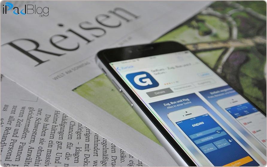 Die Rubrik REISEN wird mit der App GoEuro deutlich aufgewertet