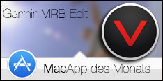 MacApp des Monats September 2015 - Garmin VIRB Edit