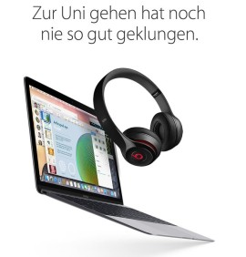 Apple Promo vom 11. August 2015 für Studenten