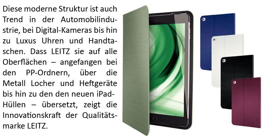 Leitz iPad-Hüllen gebürstet Aluminium