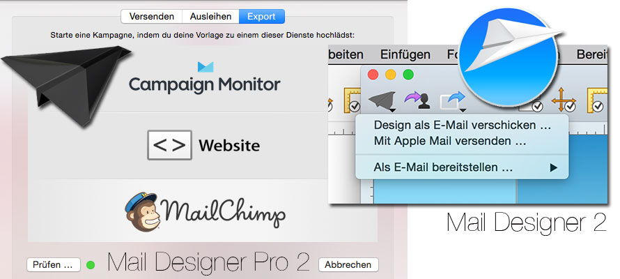 Mail Designer Pro 2 Export zu Apple Mail