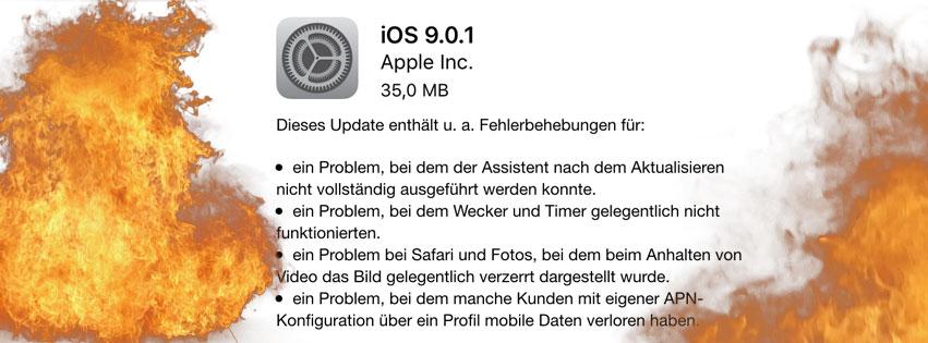 iOS 9.0.1. steht ab sofort zum Update bereit