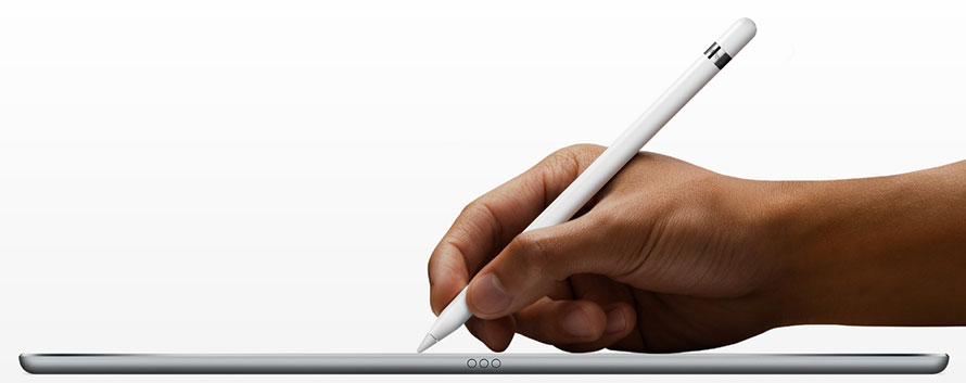 Apple Pencil auf einem iPad pro in Action