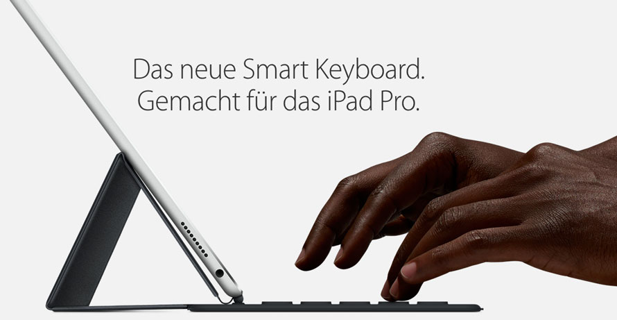 Smart Keyboard für das iPad Pro in Action