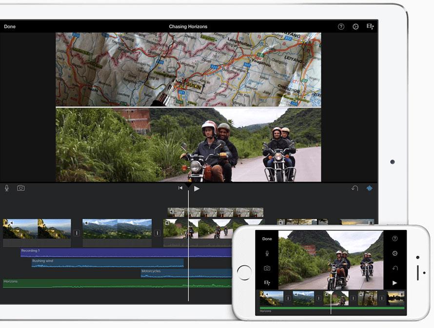iMovie Schnittfenster mit Bikes im Oktober 2015