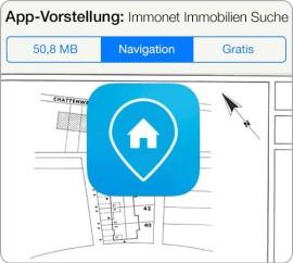"""Immonet iPad-App mit neuer Funktion """"Meine Pins"""": Wichtige Orte bei der Immobiliensuche immer im Blick"""