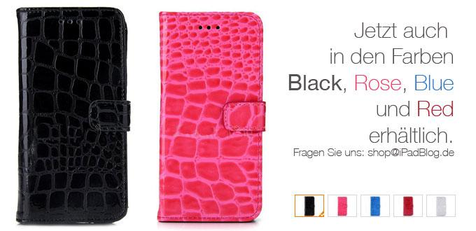 Weitere Farben im iPadBlog SHOP – Artikel 024 Luxus Krokodilleder PU Brieftasche Halter Lederhülle für Apple iPhone 6