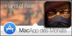 MacApp des Monats Januar 2016 – Hand of Fate