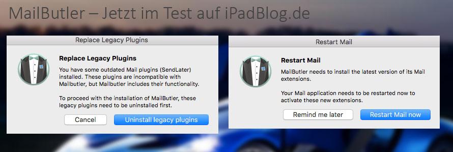 Installation von MailButler für Apple Mail