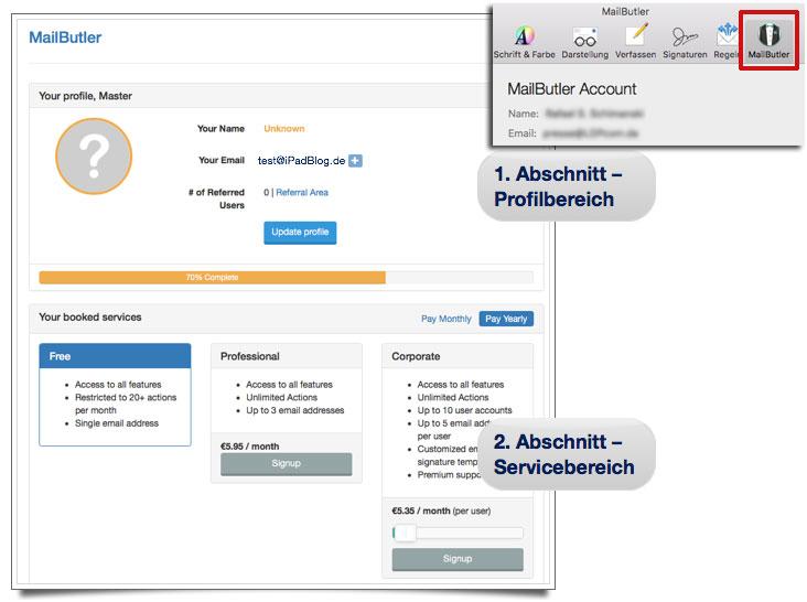 MailButler Account von Feingeist.io