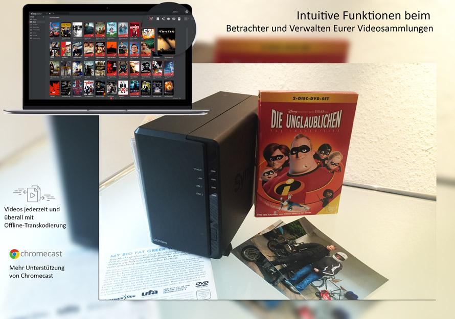 Die Multimedia-Pakete von Synology sind die besten Freunde für Ihre Filme, Musik und Bilder