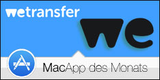 Software des Monats Juli 2016 – WeTransfer