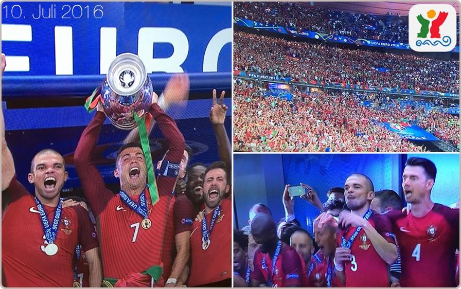Portugal ist Europameister – Collage zur App Reiseführer Visit Portugal