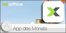 App des Monats Oktober 2016 –lexoffice