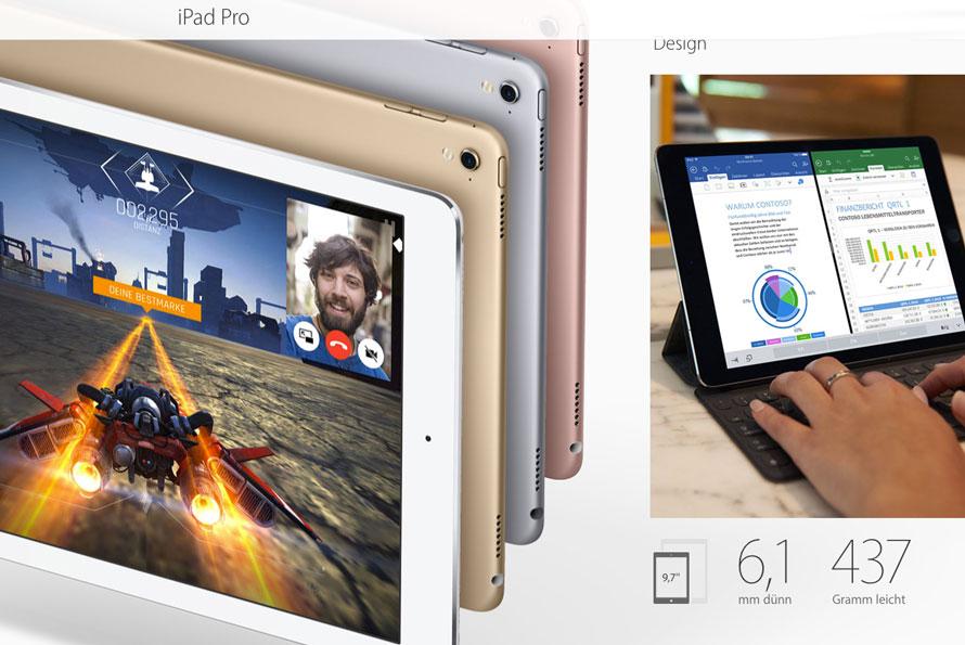 iPadPro Hero in der Promo als Sonntagskracher