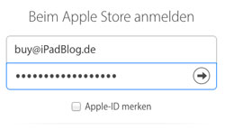 Apple-ID in Account-EInstellungen