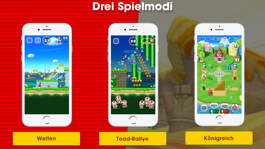 super mario run spielmodi