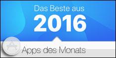 Apps des Monats Januar 2017 – Das Beste aus 2016