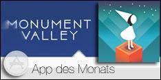 App des Monats Dezember 2016 –Monument Valley
