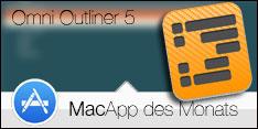MacApp des Monats September 2017 - Omni Outliner 5
